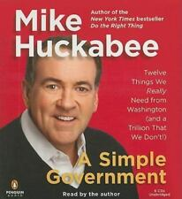 A SIMPLE GOVERNMENT BY MIKE HUCKABEE - AUDIOBOOK 6 CDS UNABRIDGED - NEW SEALED