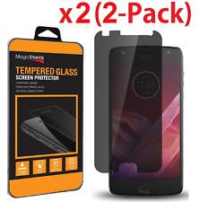2x Privacy Anti-Spy Tempered Glass Screen Protector For Motorola Moto Z2 Play