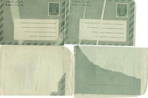 INDIA: Lot 11 unused Postal stationery letter cards, printing errors, scarce.