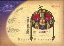 UNGHERIA 2001 MILLENNIUM gioielli della corona///Mappe/Royal/Oro/STORIA 1 V M/S (n45175)