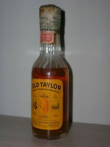 BOTTLES MIGNON COLLECTION BOURBON AMERICAN WHISKY OLD TAYLOR cl.4,7 gr.43