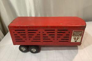 Vintage Ertl Livestock Van Toy Trailer Only