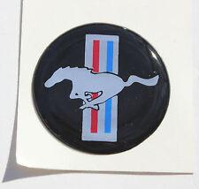 "(4) Mustang Hub Cap/Wheel Center Emblems Vinyl Adhesive Medallions - 1.5"""