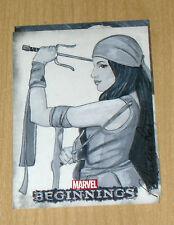 2012 Upper Deck Marvel Beginnings series 2 sketch card Patricia Ross Elektra 1/1