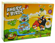 Music Flashing light Angry Birds Track Set Lightning Toy Gift Kids Toys Small 3+