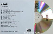JEWEL CD THIS WAY UK 14 TRACK ACETATE Rare DJ ONLY PROM