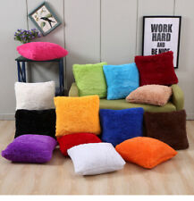 Luxury Fluffy Cushion Cover Furry Soft Pillow Case Plush Sofa Bed Home Decor