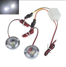 Car 2 LED Strobe Bulb Light Warning Emergency Flash DC 12V 5W + Controller