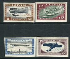 Lettonie 1933 Charity Imperf Set SG 243-6 Légèrement Monté Comme neuf V22155