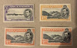 George VI Ascension Island Mint Stamps Cat £12+ See Details For Sg