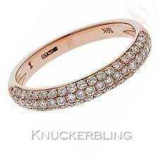 Diamond Half Eternity Wedding Ring 3.3mm Wide 0.55ct F VS set in 18ct Rose Gold