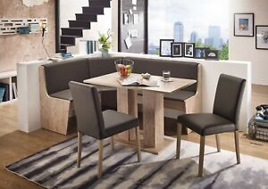 New STYL SAN REMO Eckbank Kitchen Dining Corner Seating Bench Table + 2 Chairs