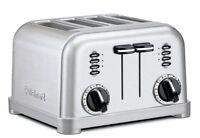 Cuisinart 4-Slice Classic Vintage Chrome Electric Toaster Custom Toast New LED