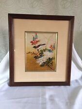 """Batik Authentic Frame And Picture By Chan Title """"Spring"""" Signed June 10, 1986"""