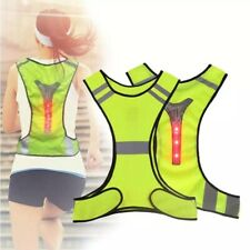 hi viz reflective cycling/running vest with led lights,mens/women's, adjustable