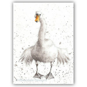 Wrendale Designs Greeting Card - SWAN FINE DAY - WD-C-ACS021