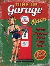 More details for tune up garage vintage style large steel sign 400mm x 300mm (og)