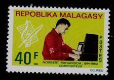 MALAGASY REPUBLIC   SCOTT#  399  MNH   MUSIC TOPICAL/NORBERT RAHARISOA/PIANO
