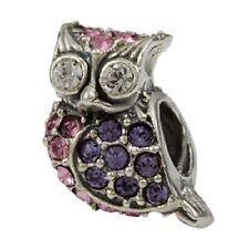 SilveRado Swarovski Cystal Hedwig Owl European Charm Bead