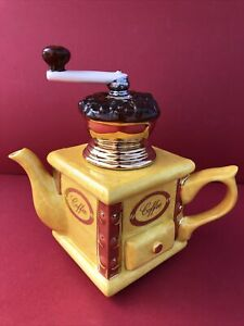 Tony Carter  Large Novelty Teapot Depicting A Coffee Grinder