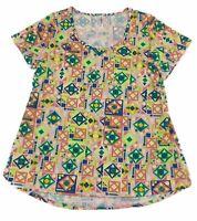 Lularoe Classic T Shirt Top Women's Size XL Short Sleeve Green Pink Blue NEW NWT