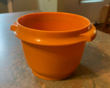Vintage Tupperware 20-oz Servalier®bowl Orange Container #886 No Lid
