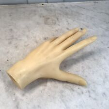 Vintage yellow female mannequin left hand splayed pose