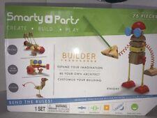 Smarty Parts Wooden Blocks Magnet Pieces Connectors Toy Builder Set (75-Piece)