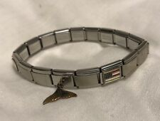 Ciao Italia Stretch Stainless Bracelet 17 Links 6 Charm PHR Sterling Silver Link