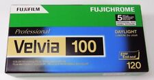 Fuji boite de 5 films Velvia 100 120 DIAPO 100 ISO, péremption 03/2019