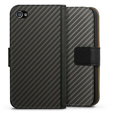 Apple iPhone 4 bolso funda flip case-carbon