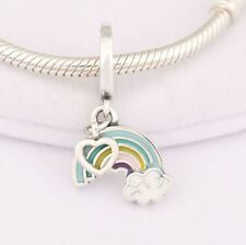 Silver Rainbow Love Dangle Charm by Hearts of Pandora's Box