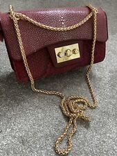 Red Burgundy Shoulder Crossbody Handbag Small
