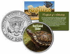 RED EARED SLIDER Reptiles JFK Half Dollar US Colorized Coin TERRAPIN Pet TURTLE