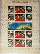 Guinea 1965 bloque 10 a S/s 393a Russian achievements in Space espacio gagarin **