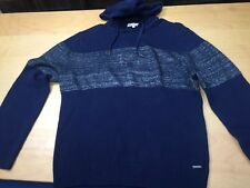 CALVIN KLEIN JEANS Hoodie Colorblock Sweater Navy Blue XXL 2XL preowned