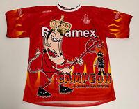 Vtg 2005 Men's DEPORTIVO TOLUCA CAMPEONES Sz XL Red Liga MX Soccer Jersey Futbol