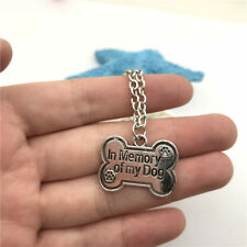In Memory of My Dog Necklace Charms Jewelry Tibet silver Pendant Chain Necklace