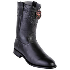 Men's Los Altos Genuine Elk Leather Roper Boots Round Toe