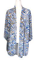 Maggie Barnes Cardigan 2X 22w 24w Plus Size Tunic Open Front Kimono