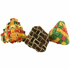 03316 3-Pack Diamond Woven Foot Toy Foraging Craft Part Talon Cage Chewy Natural