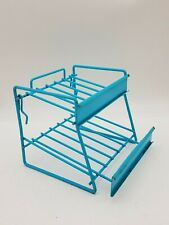 "Retro Blue Peg Board Wire Rack Slanted Shelf Store Display H5-3/4"" Merchandise"