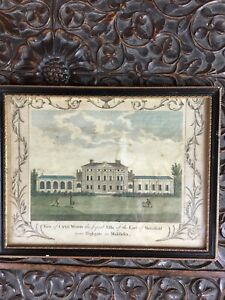 "Antique Copper Wheel Engraving Framed Print 'cane Wood"" Kenwood House Highgate"