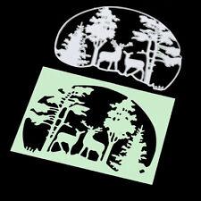 Metal Tree Deer Frames Stencil Cutting Die Craft Scrapbooking Embossing Making