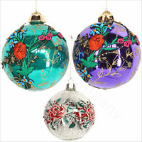Vintage Christmas Glass Baubles Xmas Christmas Tree Ornaments Hanging Decoration