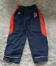 Adidas Boston Red Sox Boys Track Wind Pants 3T Blue with Red Stitch Logo Toddler