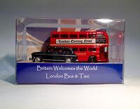 London Bus und Taxi Modell Oxford Diecast, Welly / Sammel-Geschenkbox Fahrzeuge