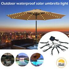 72Led Solar Umbrella Light Garden Cordless Parasol String Light Outdoor Lighting