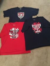 Nike Usa Soccer Tshirt Lot 3 Size Xl Dempsey Donovan Navy And Red!