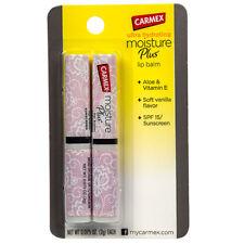 CARMEX*2pc Set MOISTURE PLUS Hydrating LIP BALM Sunscreen SOFT VANILLA SPF 15 1b